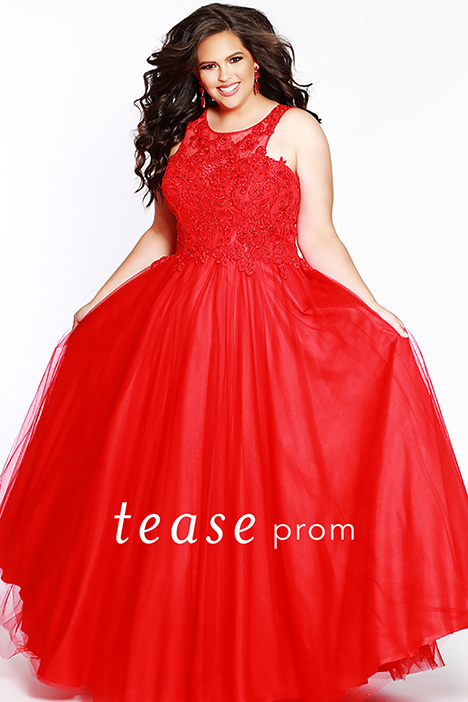 TE 1823 Red Prom                                             dress by Tease Prom+