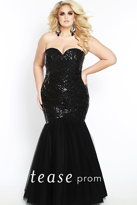 TE 1825 Black Prom                                             dress by Tease Prom+