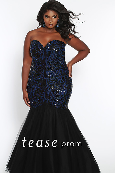 TE 1825 Navy gown from the 2019 Tease Prom+ collection, as seen on dressfinder.ca
