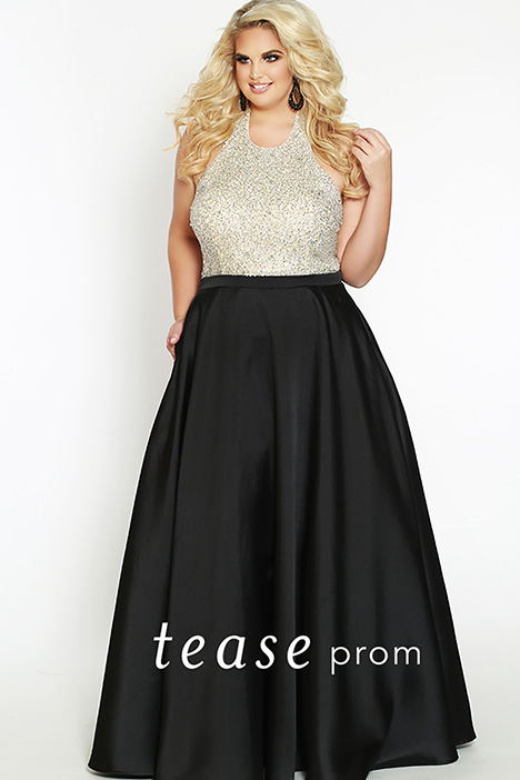 TE 1837 Black gown from the 2019 Tease Prom+ collection, as seen on dressfinder.ca