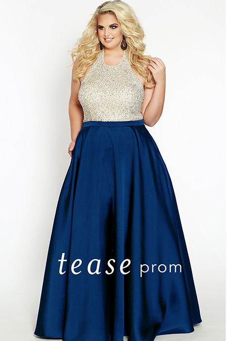 TE 1837 Navy Prom                                             dress by Tease Prom+