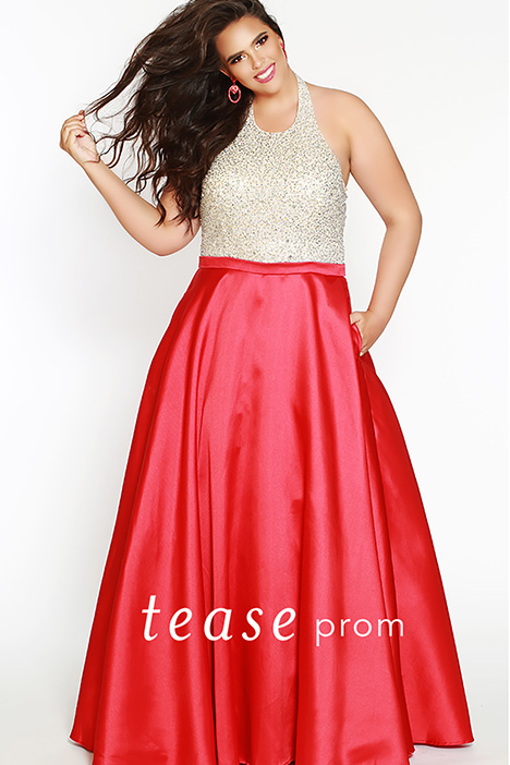 TE 1837 Red gown from the 2019 Tease Prom+ collection, as seen on dressfinder.ca