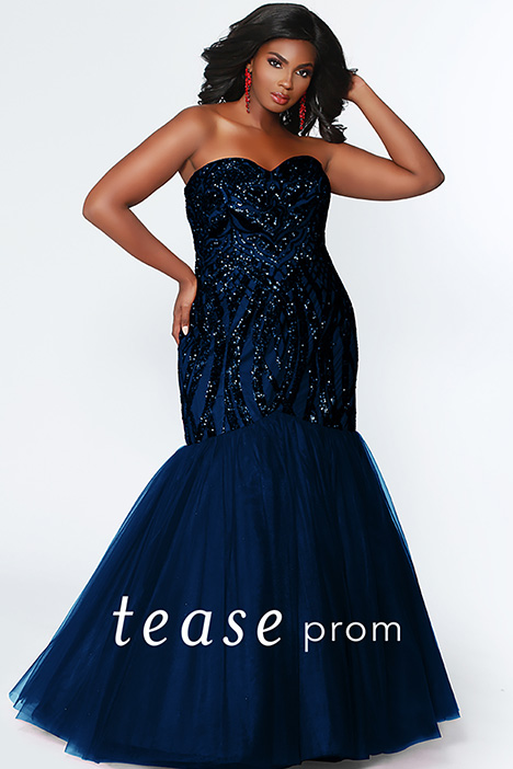 TE 1905 Navy Prom                                             dress by Tease Prom+