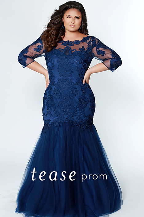 TE 1908 Navy Prom dress by Tease Prom+