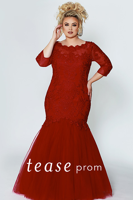 TE 1908 Red Front gown from the 2019 Tease Prom+ collection, as seen on dressfinder.ca