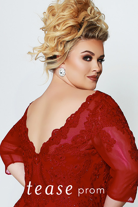 TE 1908 Red Detail Back Prom                                             dress by Tease Prom+