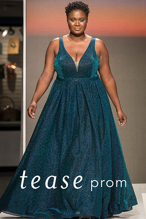 TE 1910 Peacock Runway Prom dress by Tease Prom+