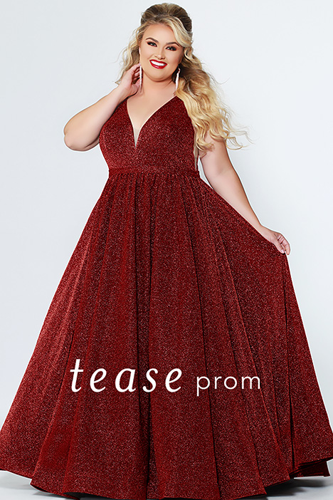 TE 1910 Red Prom dress by Tease Prom+