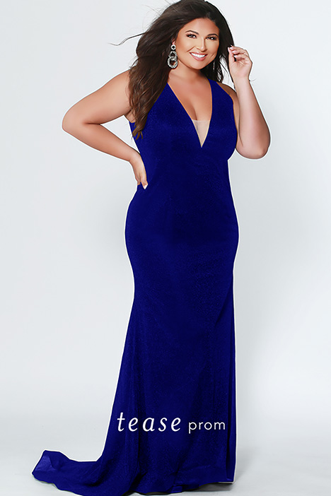 TE 1911 Blue gown from the 2019 Tease Prom+ collection, as seen on dressfinder.ca