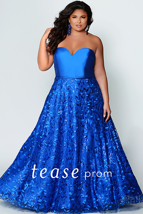 TE 1920 Sapphire gown from the 2019 Tease Prom+ collection, as seen on dressfinder.ca
