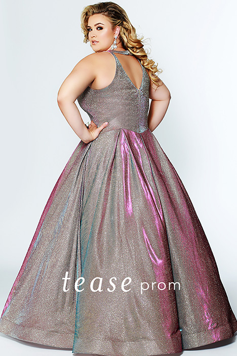 TE 1924 Holo Back Prom                                             dress by Tease Prom+