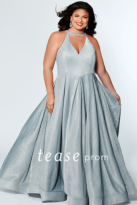 TE 1924 Silver gown from the 2019 Tease Prom+ collection, as seen on dressfinder.ca