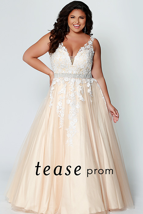 TE 1927 Champagne Prom                                             dress by Tease Prom+