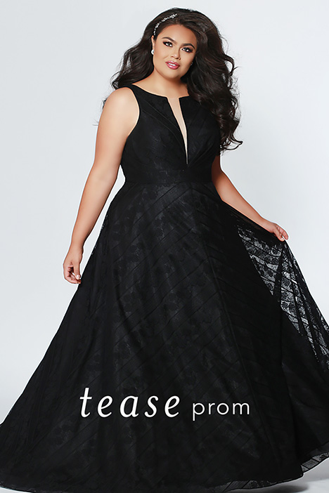 TE 1936 Black  gown from the 2019 Tease Prom+ collection, as seen on dressfinder.ca