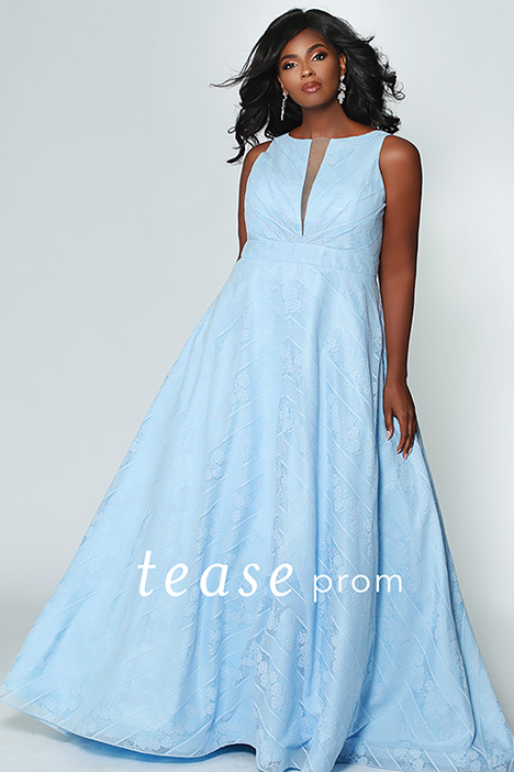 TE 1936 Blue gown from the 2019 Tease Prom+ collection, as seen on dressfinder.ca