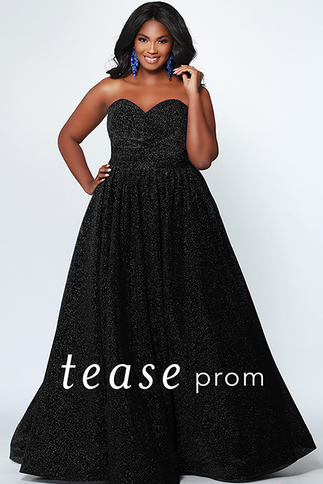 TE 1937 Black gown from the 2019 Tease Prom+ collection, as seen on dressfinder.ca