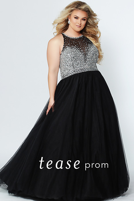 TE 1938 Black gown from the 2019 Tease Prom+ collection, as seen on dressfinder.ca