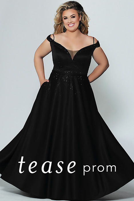 TE 1941 Black gown from the 2019 Tease Prom+ collection, as seen on dressfinder.ca