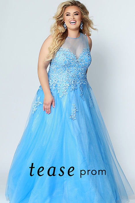 TE 1944 Blue gown from the 2019 Tease Prom+ collection, as seen on dressfinder.ca