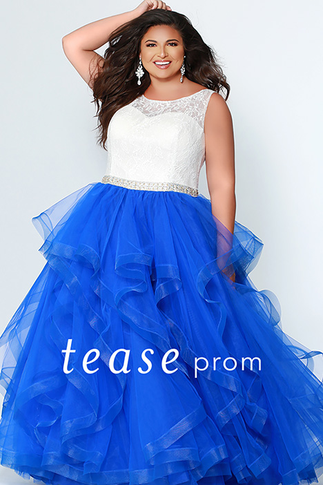 TE 1946 Cobalt gown from the 2019 Tease Prom+ collection, as seen on dressfinder.ca