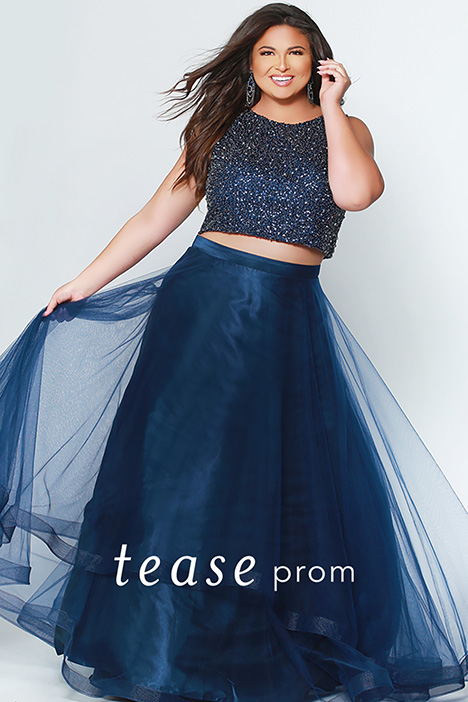 TE 1951 Blue gown from the 2019 Tease Prom+ collection, as seen on dressfinder.ca