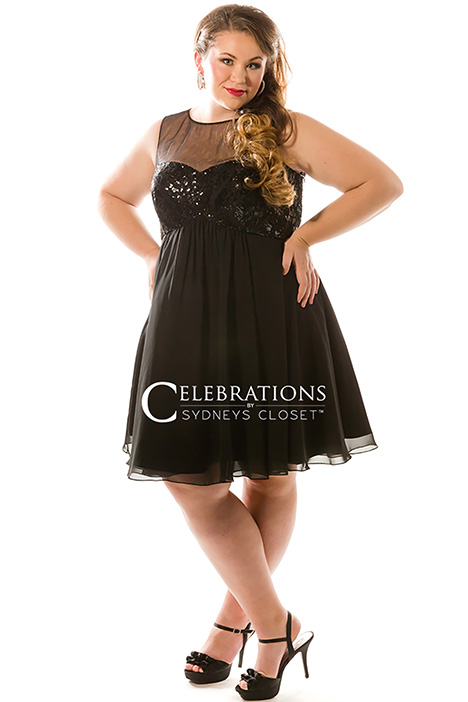 CE 1817 Black Prom                                             dress by Sydney's Closet Celebrations+