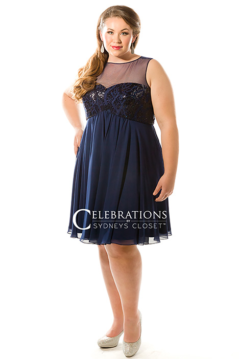 CE 1817 Navy Prom                                             dress by Sydney's Closet Celebrations+