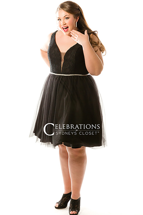 CE 1818 Black Prom                                             dress by Sydney's Closet Celebrations+