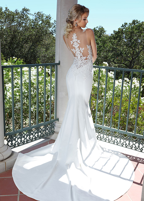 10675 Back Wedding                                          dress by Ashley & Justin Bride